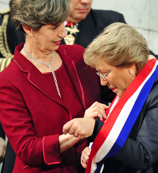 CHILE-BACHELET-INAUGURATION
