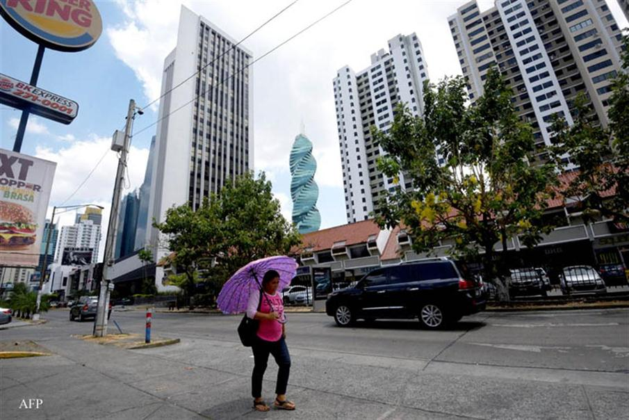 View of buildings in the financial center of Panama City on April 4, 2016. A massive leak -coming from Mossack Fonseca- of 11.5 million tax documents on Sunday exposed the secret offshore dealings of aides to Russian president Vladimir Putin, world leaders and celebrities including Barcelona forward Lionel Messi. An investigation into the documents by more than 100 media groups, described as one of the largest such probes in history, revealed the hidden offshore dealings in the assets of around 140 political figures -- including 12 current or former heads of states. AFP PHOTO/ Rodrigo ARANGUA / AFP PHOTO / RODRIGO ARANGUA