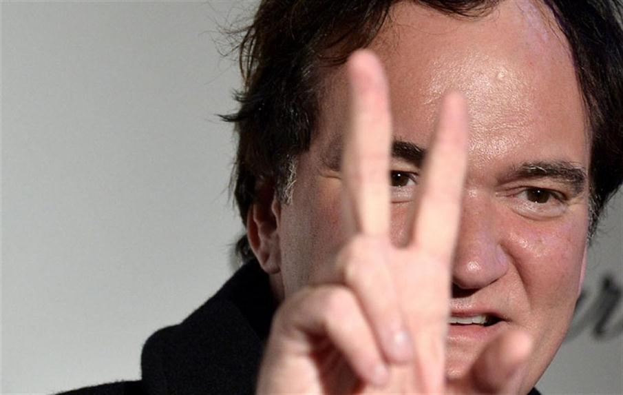 US film director Quentin Tarantino attends the premiere of the film 'The Hateful Eight' in Rome on January  28, 2016. / AFP PHOTO / TIZIANA FABI