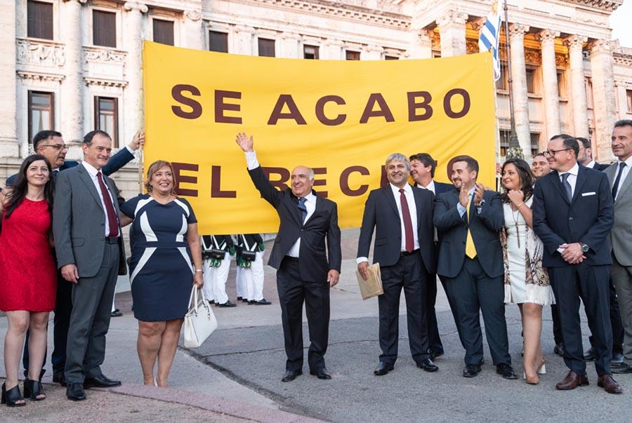 Bancada parlamentaria de Cabildo Abierto/Foto: Mauricio ZIna